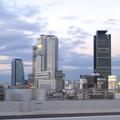 写真: 名古屋高速から見た名駅ビル群 No - 11