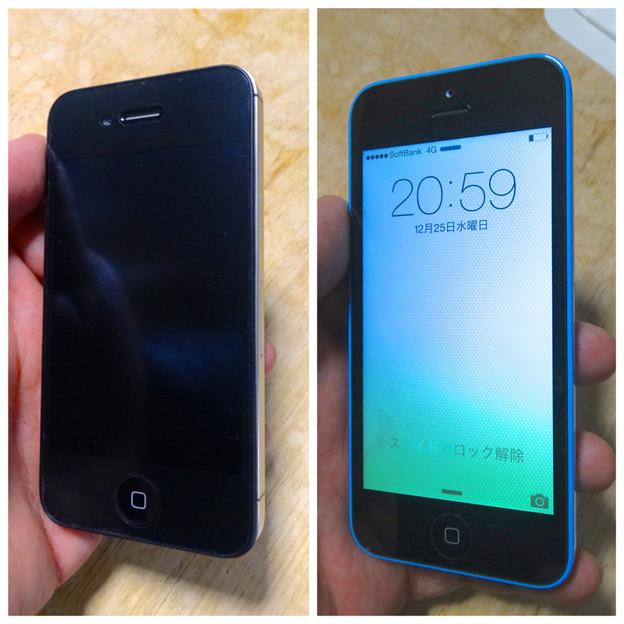 iPhone 4Sと5c