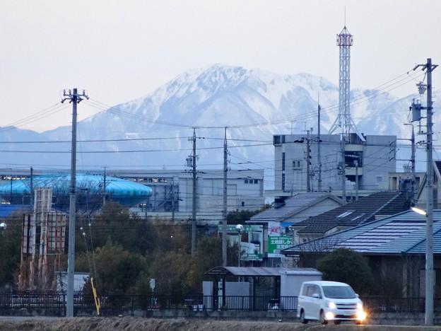 写真: 春日井市内から見えた、雪を頂く伊吹山 - 7