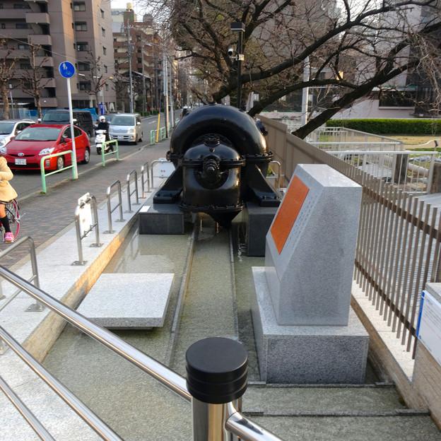 堀留水処理センター No - 06:記念碑と「みちのく式渦巻ポンプ」