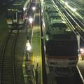 写真: 夜の向野橋から見た景色 No - 33:名古屋車両区