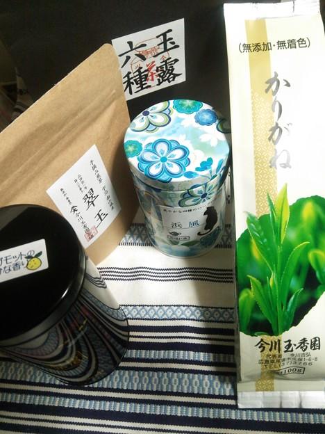 写真: 昨日の尾道・今川玉香園さんでの茶散財の結果を晒してみました( ・∇・)