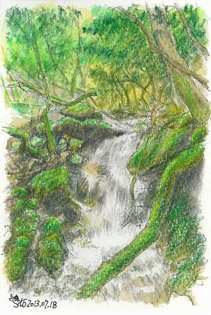 20130718白木の小さな滝