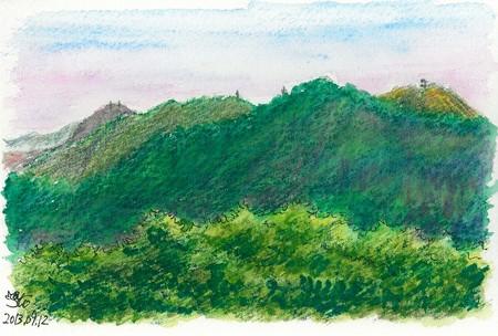 20130912嵩山から嘉納山