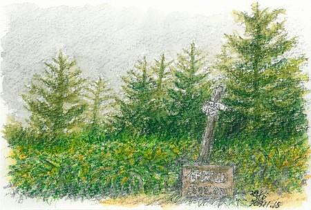 20131115伊吹山山頂(雨)