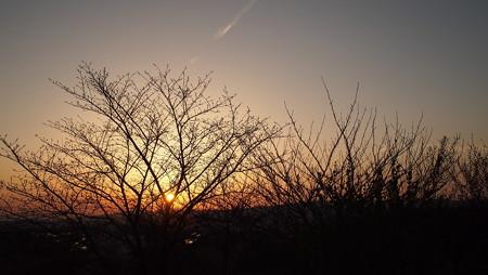 日没の時・夕焼けの空