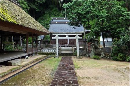 鳥居と社殿2