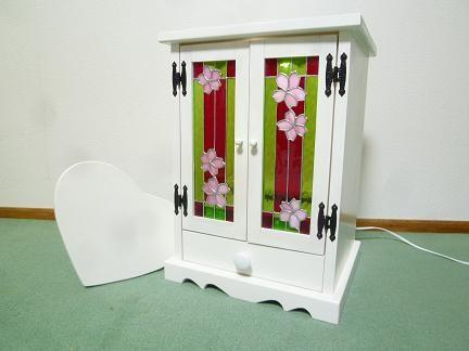 ステンドグラス ミニ仏壇(さくら)