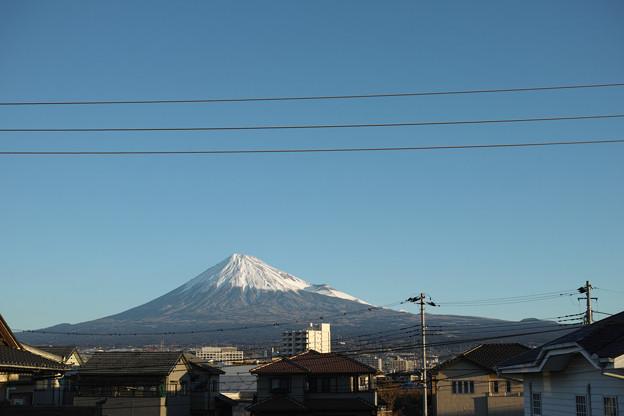 写真: 12月29日の富士山