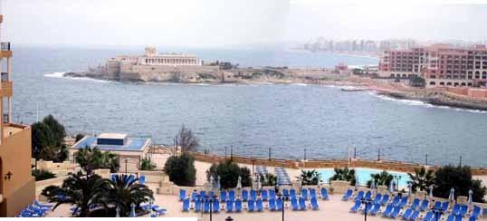 マルタ島(ホテルからの眺め)