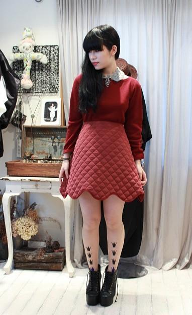 """tiit(ティート) """" knit skirt OP """""""