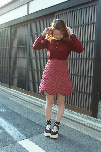 "tiit(ティート) "" knit skirt OP """