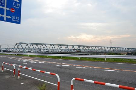 2つの橋@葛飾橋前 [7/24]
