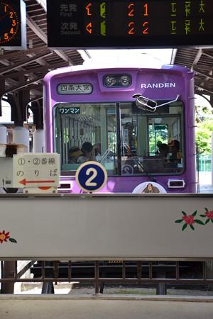 モボ611形(?)@嵐山駅(京福) [8/21]