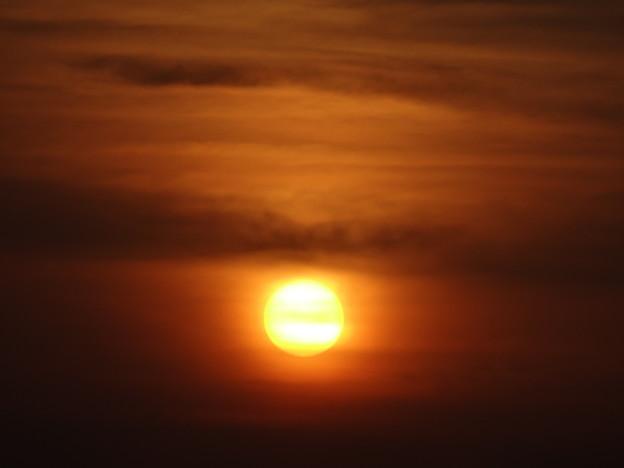 おぼろ夕陽
