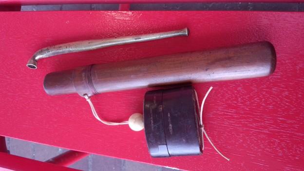 喜世留筒、印籠、真鍮六寸延べ