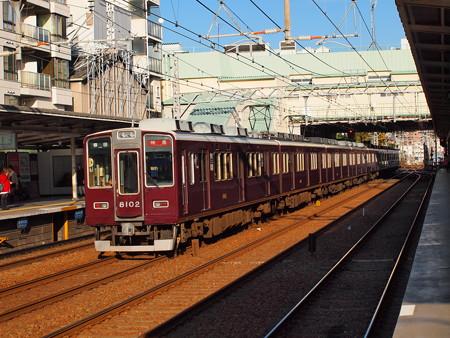 阪急8000系特急 後追い 阪急神戸線駅