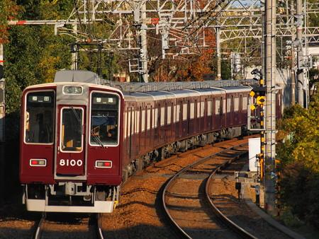 阪急8000系普通 後追い 阪急神戸線御影駅