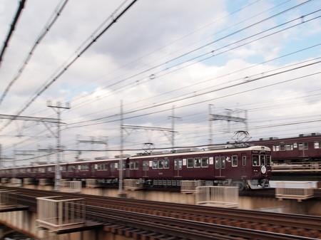 阪急6000系西山天王山HM付き普通 流し 阪急線十三~中津