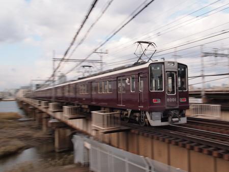 阪急8000系普通 後追い流し 阪急線十三~中津