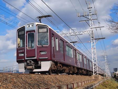 阪急9300系特急 阪急京都線高槻市~富田