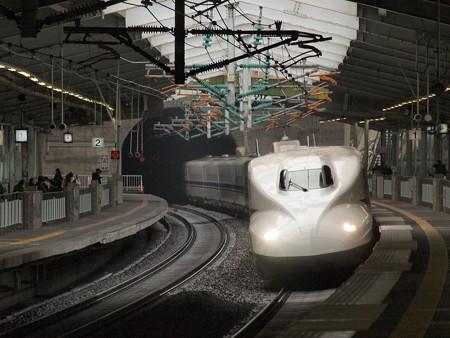 N700系のぞみ 山陽新幹線新神戸駅5