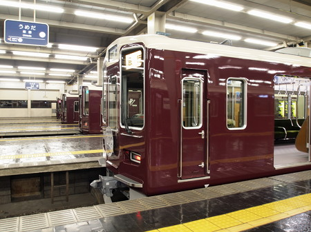 阪急電車の並び 梅田駅