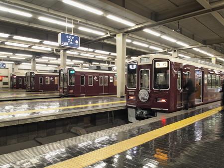京都線と宝塚線 梅田駅