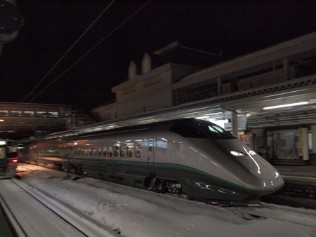 E3系つばさ流し 奥羽本線米沢駅