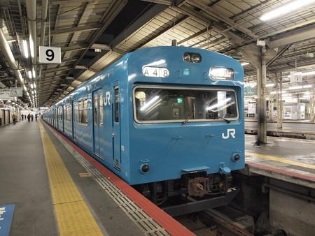 103系普通 阪和線天王寺駅