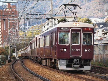 阪急7000系特急 阪急神戸線岡本~御影