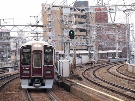 阪急9000系普通 阪急宝塚線中津駅