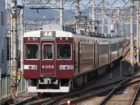 阪急6300系普通 阪急嵐山線桂駅