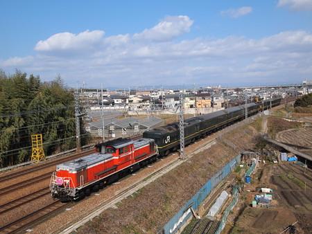 DD51+24系 トワイライトエクスプレス団臨回送 東海道本線名神クロス