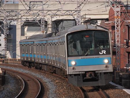 205系普通 阪和線美章園駅