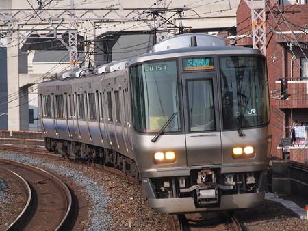 223系区間快速 阪和線美章園駅