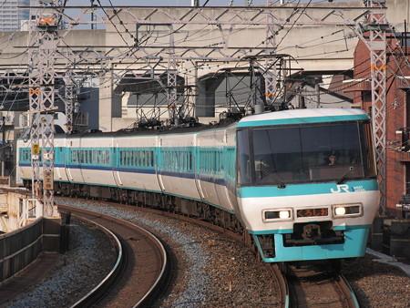 381系特急くろしお 阪和線美章園駅