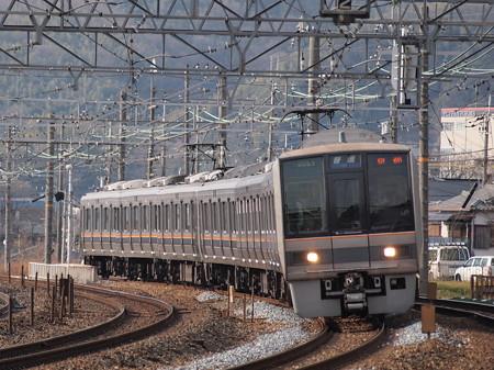 207系普通 東海道本線サントリーカーブ