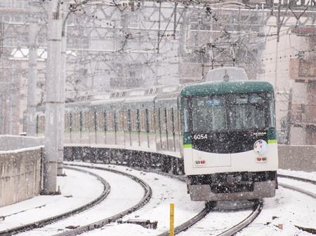京阪6000系準急いなりちゃんHM 京阪本線西三荘駅