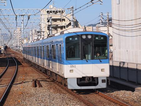 阪神5500系普通 阪神本線石屋川駅