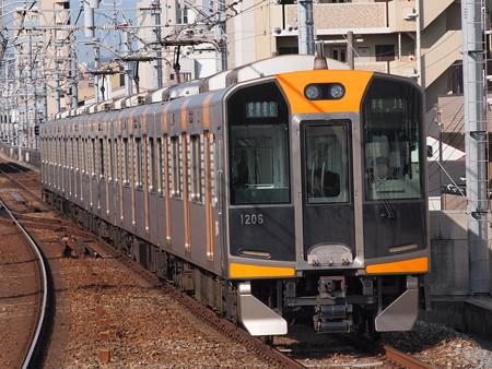 阪神1000系快速急行 阪神本線石屋川駅3