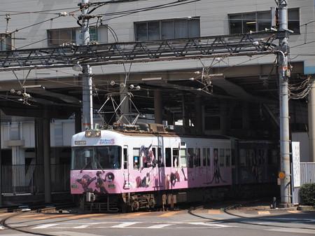 京阪600形 中二病ラッピング 京阪石山坂本線浜大津出発