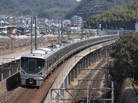 225系新快速 湖西線大津京~山科