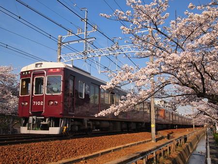 阪急7000系特急 阪急神戸線塚口~武庫之荘