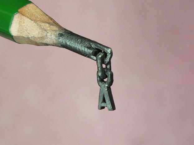 鉛筆彫刻 A付の鎖