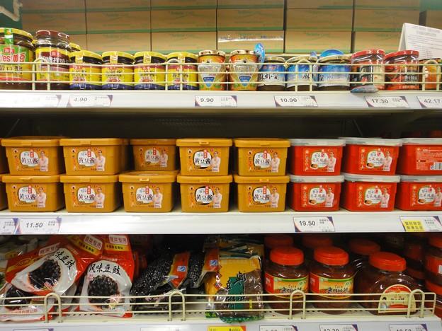 TESCO 韓国味噌売り場