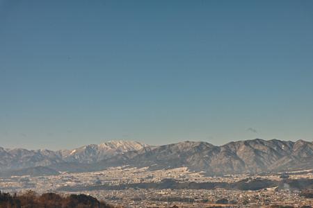 冬の飯田市遠景