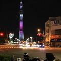 Photos: 桜色のスカイツリーと記念写真♪