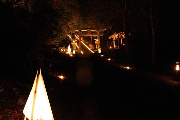 大晦日蝋燭の灯り