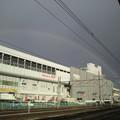 写真: 福島駅上空の虹をもう一枚。 #fukushima #虹